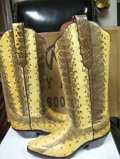 Tony Mora Women's Western Natural snake Leather boot 2009 Size 6.5 New