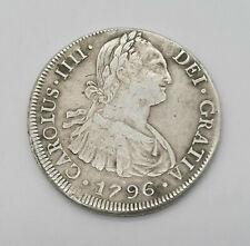 CARLOS IIII 8 reales 1796 PP Potosi BOLIVIA km#72