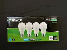 4 Bulbs LED 15W Daylight 5000K A19 100W Replacement  Four Pack