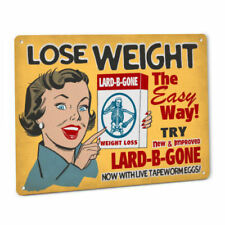 Lose Weight Lard B Gone SIGN Funny Tapeworm Eggs NOT Real Pills Diet Wall Art