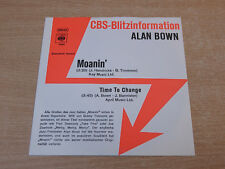"EX-/EX !! The Alan Bown !/Moanin'/1975 CBS 7"" Single/German"