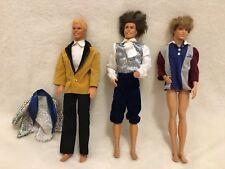Lot De 3 Ken Mattel Vintage Et Non Vintage ( Barbie )