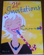 21st Birthday Party Invitations Pad Girl  -20 Sheet Invites