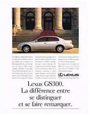 PUBLICITE ADVERTISING   1995   LEXUS      GS300
