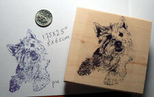 "Westy dog rubber stamp WM 2x2.5"" P4"