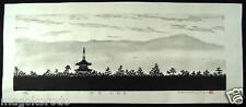 "o2716,JPN Wood-block print ,Yuasa,World heritage Series""NINNA-JI temple""KYOTO."