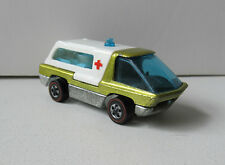 HOT WHEELS REDLINE THE HEAVYWEIGHTS 1970 AMBULANCE YELLOW HONG KONG