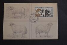lettre TAAF 1989 carte mouton a Kerguelen