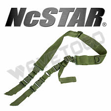 VISM NcSTAR Two 2 Point Tactical Adjustable Sling Hunting Rifle Gun Strap Green