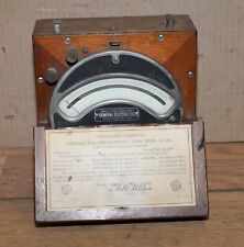1920 General Electric Volt meter antique electrical gauge collectible industrial