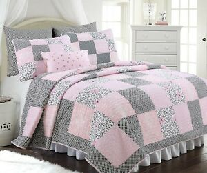 Lovett Real Patchwork 100%Cotton Quilt Set, Bedspread, Coverlet