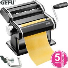 GEFU Pasta Perfetta Nudelmaschine Pasta Teig Maschine inkl. Aufsatz schwarz matt