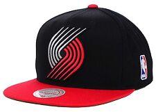 Portland Trail Blazers Mitchell & Ness XL Logo Black 2 Tone Snapback Hat Cap NBA