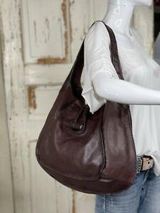 FOSSIL Fifty-Four Brown Soft Leather Large Hobo Shoulder Handbag Purse ADORABLE!