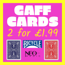 BICYCLE GAFF CARDS (x 2) - Rider Back, Blank Face, Double Back, plus MORE!