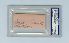 Ed Morris Signed PSA/DNA COA Cuts Auto Autographed D:1932 Killed in Bar Fight