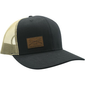 Grunt Style Logo Leather Patch Hat - Black