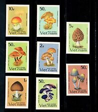 N.425-Vietnam – IMPERF- Edible mushrooms- set 8 1983