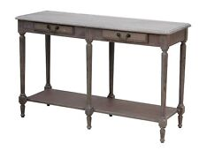 French Provincial Louis XVI Hallway/Console Table in Wash White