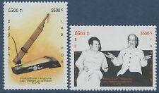 LAOS N°1455/1456** Coopération Vietnam, Instrument de musique 2002, music Set NH