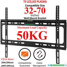 TV WALL BRACKET MOUNT SLIM FOR 32 42 40 45 50 55 60 65 70 INCH 3D LCD LED PLASMA