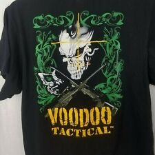 Voodoo Tactical mens graphic tee shirt size medium black skulls guns rifles