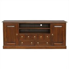 Tasimania 187 cm solid Mahogany Timber TV Entertainment Unit 2 doors 7 drawers