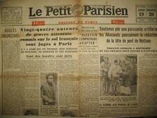 WW2 PROCES RESISTANTS JUIFS INDE FRONT EST LE PETIT PARISIEN 19-20/02 1944