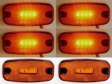 6x LED position marker Lichter Orange Bernstein Lampe für LKW Anhänger LKW Bus