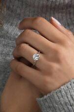 1,50 Ct Einzel Diamant-Verlobungsring Solitär Weißgold-Finish Verspreche Geschen