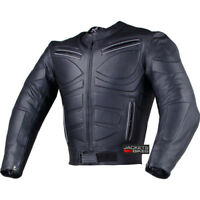 Men's Blade Motorcycle Riding Leather Armor Biker Ventilated Jacket Black