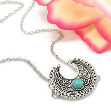 Bohemian Boho Retro Silver Necklace Turquoise Ethnic Hippie Festival Jewelry New