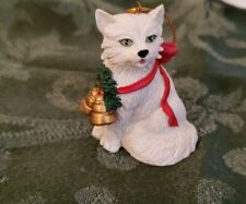"Persian Cat with bell Ornament 3"" Christmas Collection by Tom Rubel 1990s"