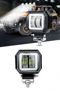 20W 1000Lm 76mm 7D LED Halogene Phare De Travail Projecteur Feu Avant 12V / 24V