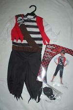 Toddler Boys Halloween Costume SHIPWRECK PIRATE Jumpsuit & Eyepatch SIZE 2T