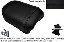 Negro Stitch Custom Fits Yamaha Virago Xv 250 Trasera de piel cubierta de asiento
