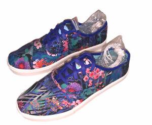 Rare! Women's TOMS Tropical Floral Print Lace Up Shoes Size 6