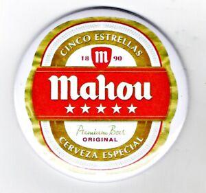 "Mahou Jumbo Fridge Magnet Beer Mat Bar Cerveza  3"" 75mm blade Sub pub lager"