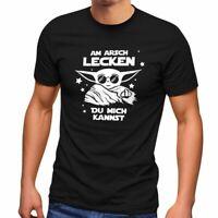 Herren T-Shirt Am Arsch lecken du mich kannst Mittelfinger Parodie Satire