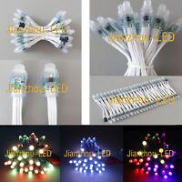 50pcs WS2811 RGB Full Color Pixels 12mm IP68 Addressable LED String Module 5V