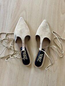 Zara Mule, Suede Beige BRAND NEW, Size 38