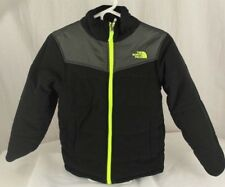 The north face reversible kids black gray and neon green jacket size M 10-12