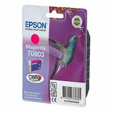 3x Epson Original Magenta T0803 Ink Cartridge Part of T0807 Genuine For