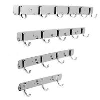 3/4/5/6 Stainless Steel Hooks Coat Hat Clothes Door Holder Rack Hook Wall Hanger