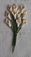 50 OFF WHITE Mulberry Paper miniature arum CALLA LILY for crafts wedding  card