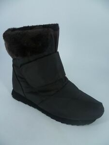 Ladies Touch Fastening Fur Lined Snow Ice Boots Brown UK 7 EU 41 LN180 WW 03