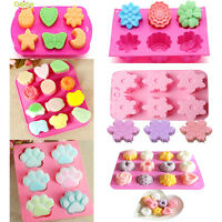 Pink Pattern Silicone Cake Decorating Moulds Candy Cookies Chocolate Baking Mold