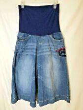 Ecko Red Denim Foundry Women Maternity Long Short Jeans Capri Full Belly Panel