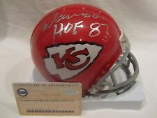 Len Dawson Autographed Kansas City Chiefs Mini Helmet w/HOF Insc. - Steiner Cert