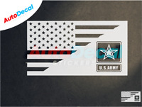 Us Army American Flag Car Vinyl Window Decal Sticker Military Corps Proud #440